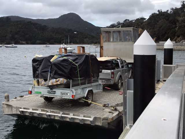 We use our barge & trusty ute